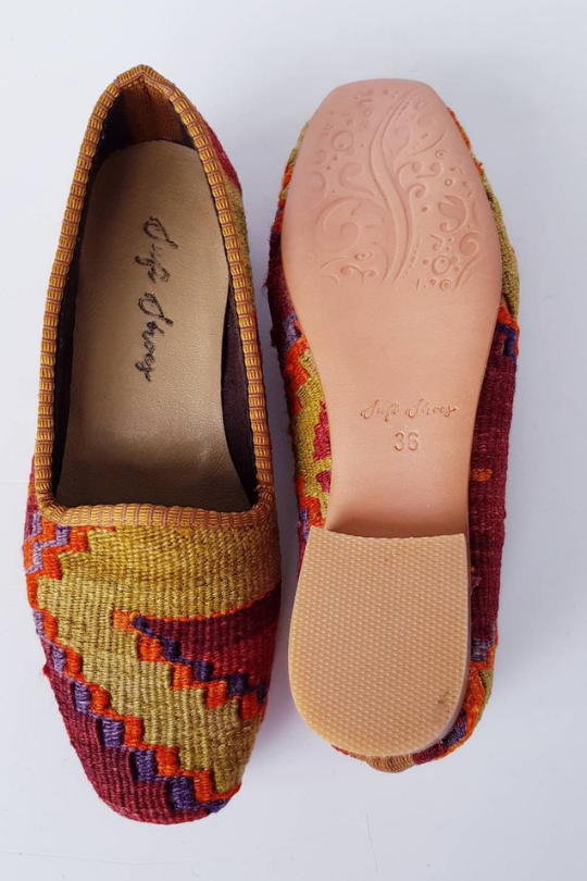 Kilim Shoes Handmade