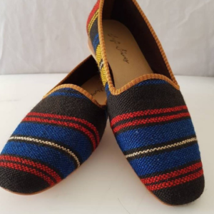 Handmade Kilim Shoes Vintage Loafher Shoes