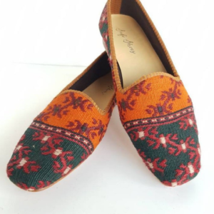 Kilim Shoes for Women Handmade Vintage Loafer