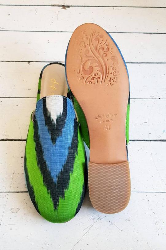 Women Loafer Pure Silk Shoes Handmade
