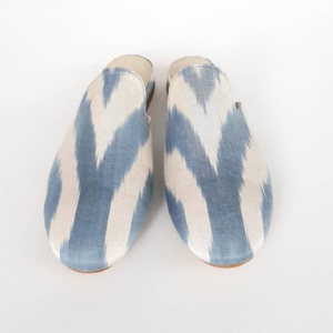 Pure Silk Ikat Mule Shoes for Women