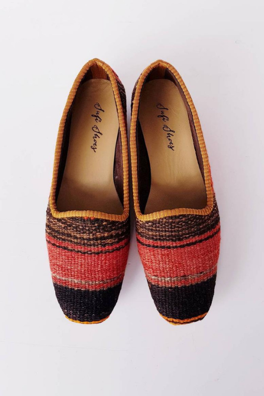 Vintage Kilim Shoes Handmade