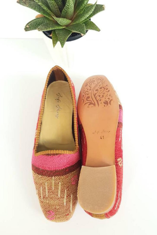 Women Kilim Loafer Handmade