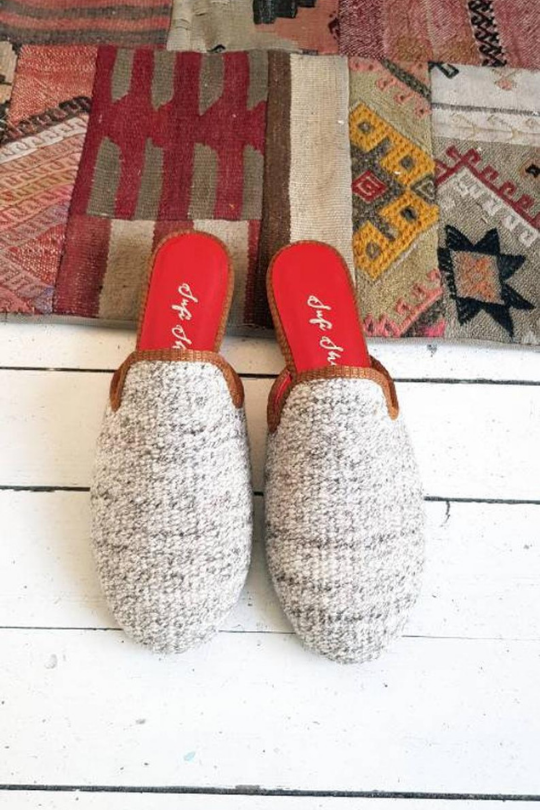 Women Kilim Mule Shoes Handmade