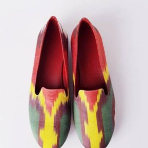 Women Shoes Made of Pure Silk Ikat Handmade
