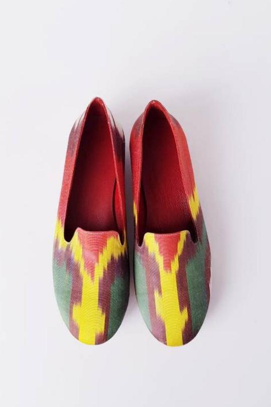 Women Shoes Made of Pure Silk Ikat Handmade