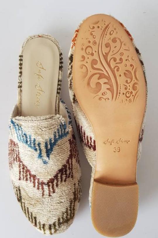 Ikat Velvet Sandal Slipper Shoes