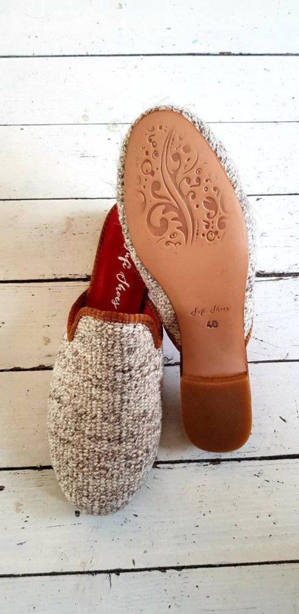 Women Kilim Mule Shoes Handmade Sandal Shoes