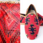 Handmade Smoking Kilim Shoes for Men