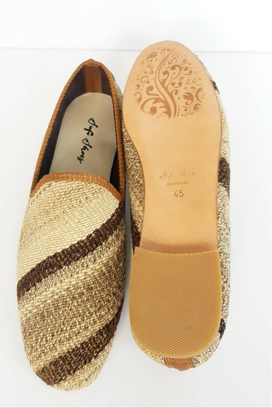 Men Handmade Vintage Kilim Loafer