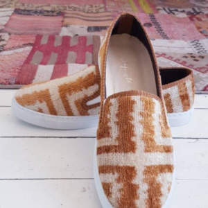 Handmade Ikat Silk Velvet Sneaker