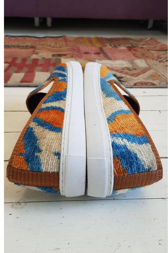 Handmade Sneaker Ikat Velvet Unisex