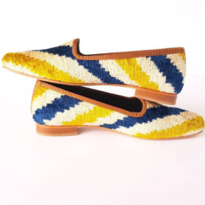 Silk Ikat Velvet Women Shoes