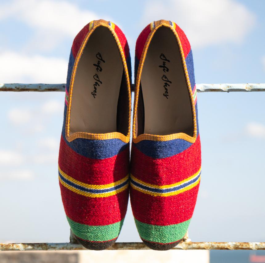 Sufi Handmade Vintage Kilim Shoes