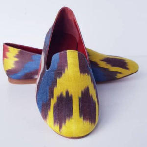 Women Ikat Pure Silk Shoes