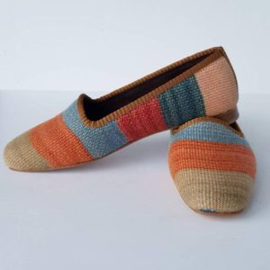 Women Kilim Loafer Shoes Handmade