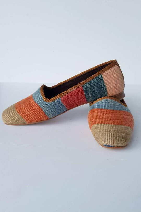 Women Kilim Loafer Shoes Handmade