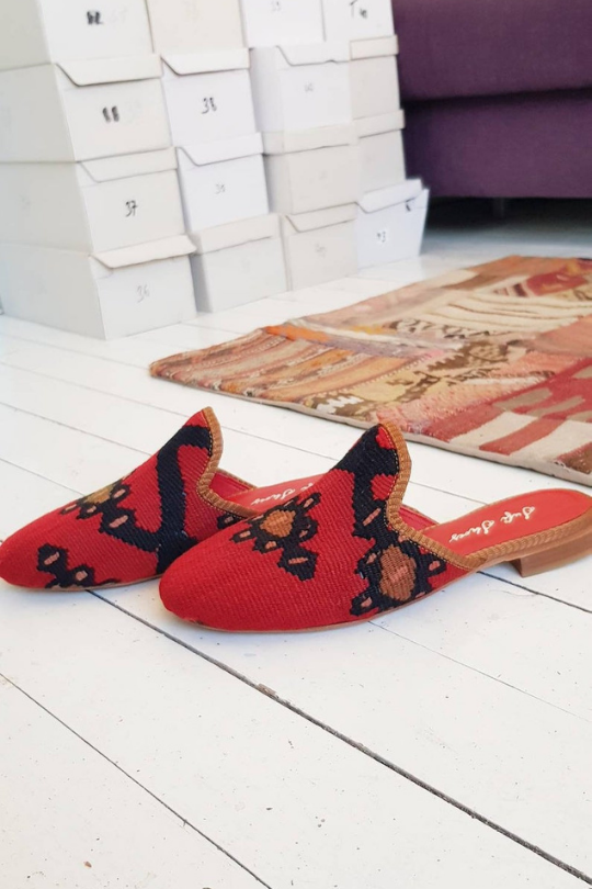 Women Kilim Sandal Shoes Loafer Handmade Vintage