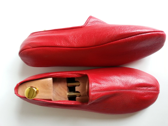 Red Leather indoor slipper